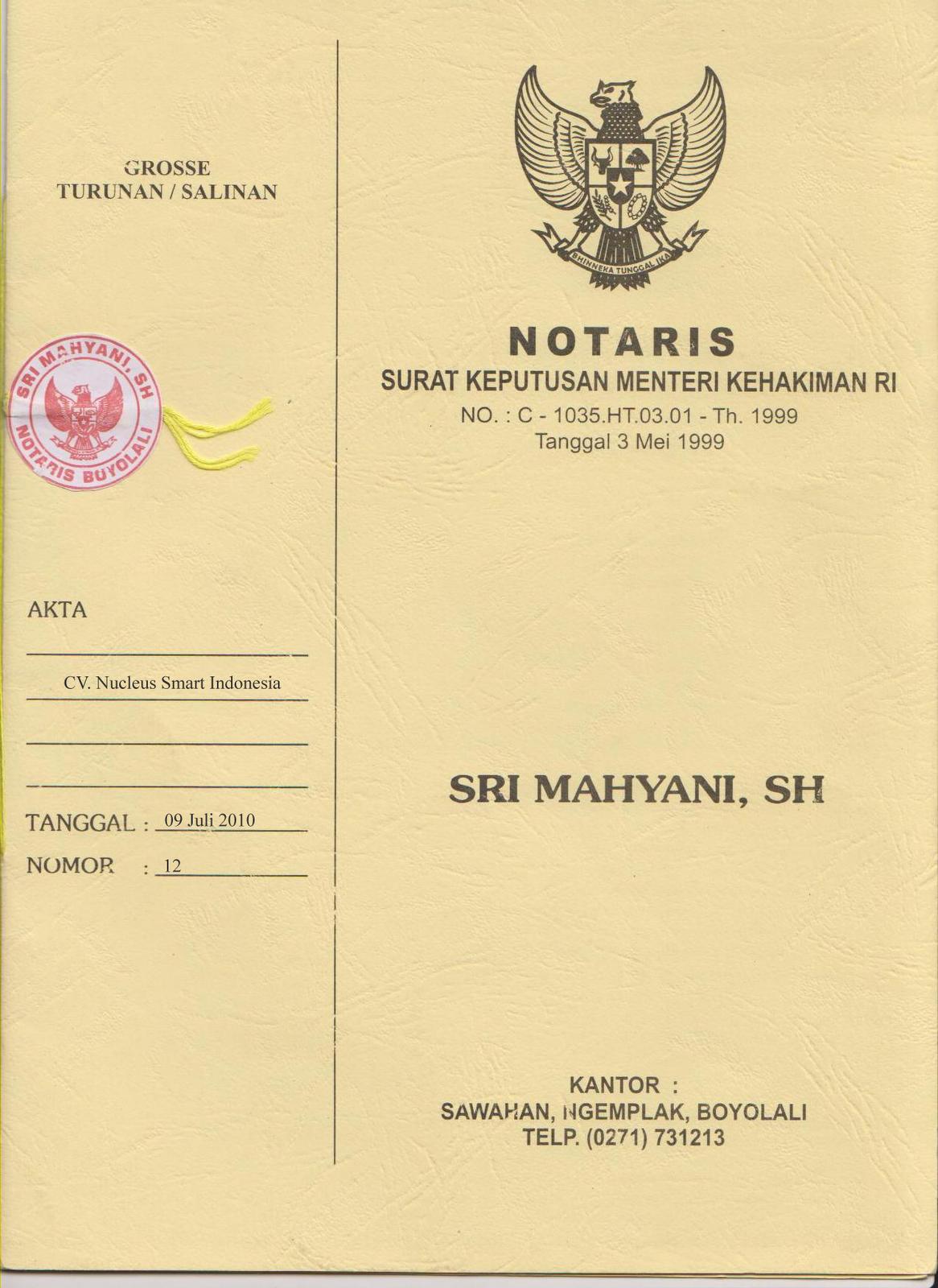 Jual Beli Tanah Akta Notaris